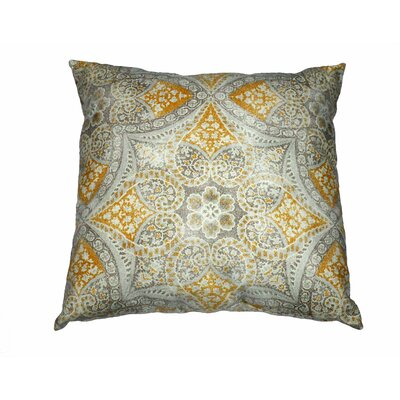 Alfresco Cotton Throw Pillow Color: Gray/Yellow