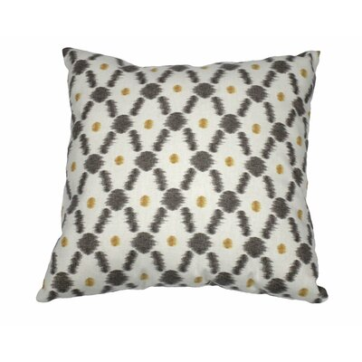 Konya Cotton Throw Pillow Color: White/Noir