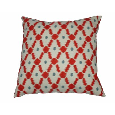 Konya Cotton Throw Pillow Color: Scarlett