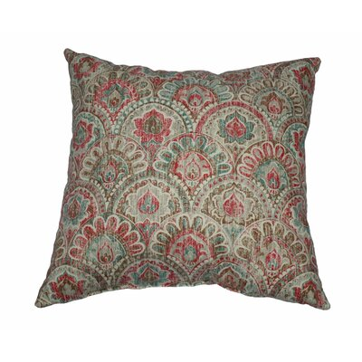 Via 100% Cotton Throw Pillow Color: Fiesta