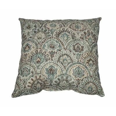 Via 100% Cotton Throw Pillow Color: Breeze