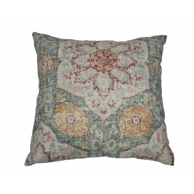Toscana Tile Cotton Throw Pillow Color: Cerulean