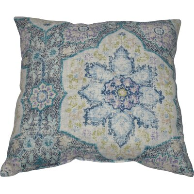 Toscana Tile 100% Cotton Throw Pillow Color: Azure