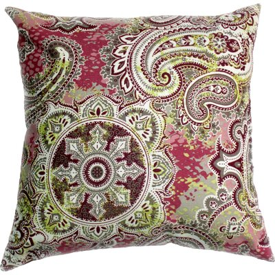 Houssie Throw Pillow Color: Mulberry