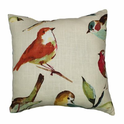 Birdwatcher Throw Pillow Color: Meadow