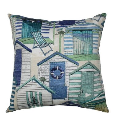 Beachhuts Throw Pillow Color: Pool