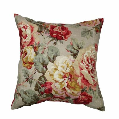Queen 100% Cotton Throw Pillow Color: Bramble