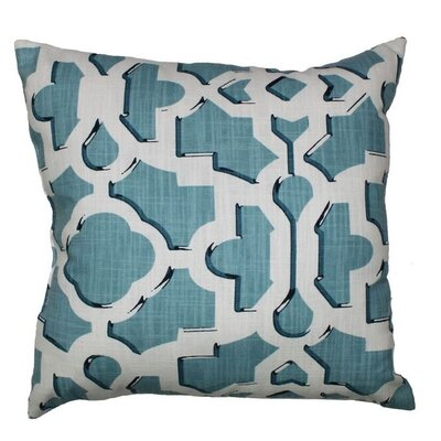 Artego 100% Cotton Throw Pillow Color: Sky