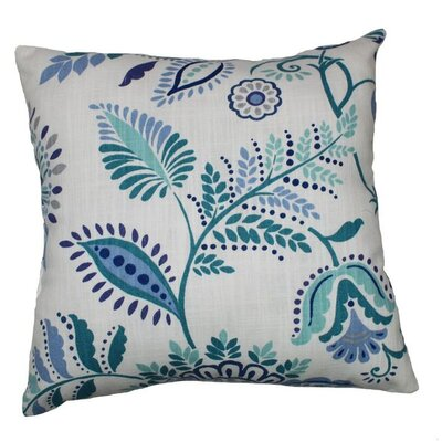Lanie 100% Cotton Throw Pillow Color: Baltic