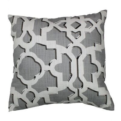 Artego 100% Cotton Throw Pillow Color: Greystone