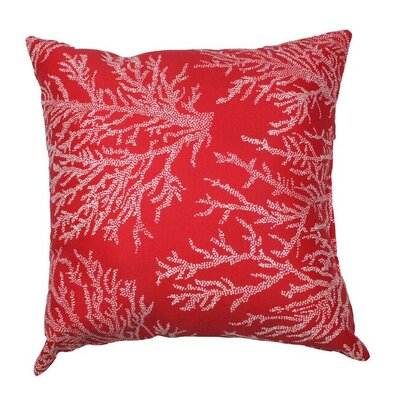 Sea Coral Throw Pillow Color: Red