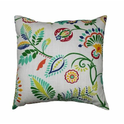 Lanie 100% Cotton Throw Pillow Color: Opal
