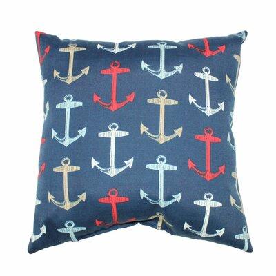 Anchor Allover Throw Pillow Color: Navy