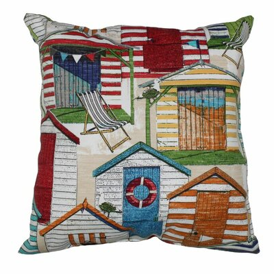 Beachhuts Throw Pillow Color: Cabana