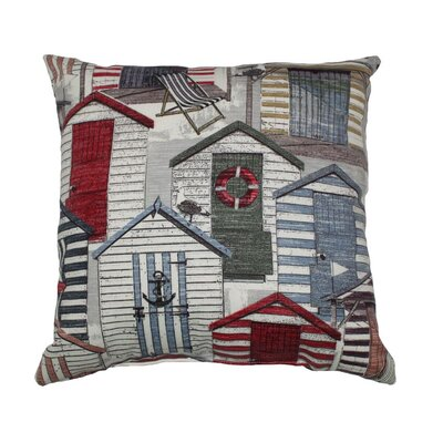 Beachhuts Throw Pillow Color: Vintage