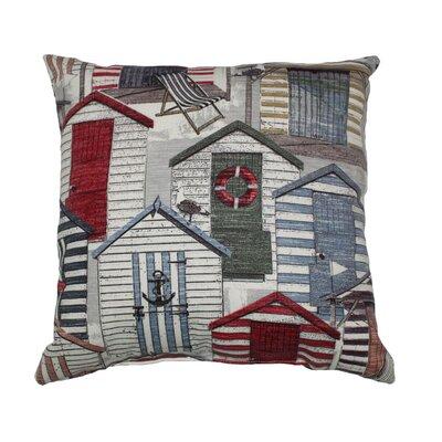 Beachhuts Throw Pillow Color: Vintage