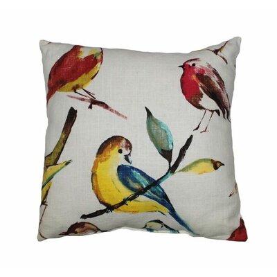 Birdwatcher Throw Pillow Color: Summer