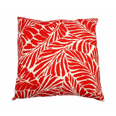 Malkus Outdoor Throw Pillow Color: Salsa