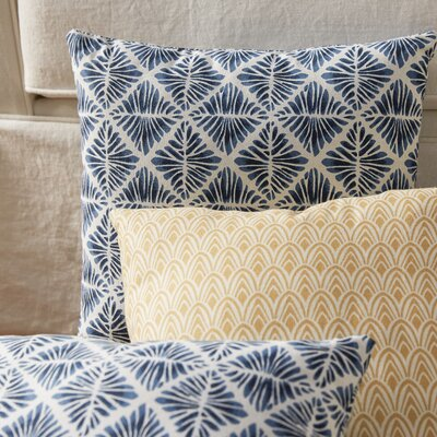 Gem Field Throw Pillow Color: Indigo