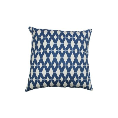 Ruesco 100% Cotton Throw Pillow Color: Cadet