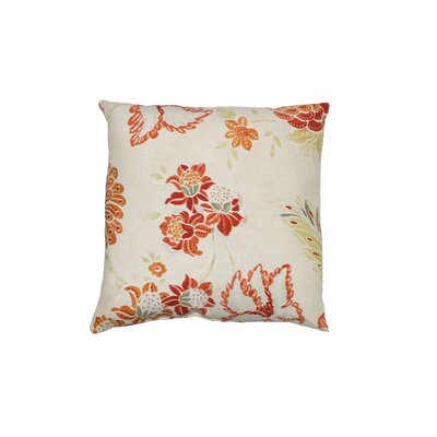 Portara 100% Cotton Throw Pillow Color: Coral
