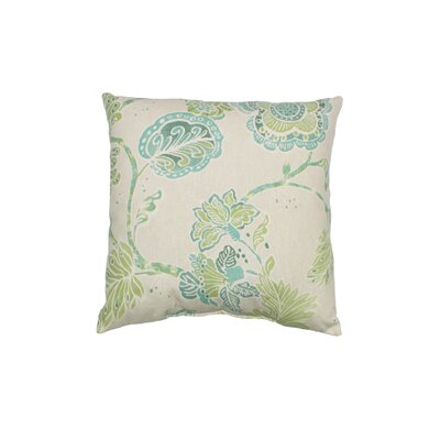 Portara 100% Cotton Throw Pillow Color: Seafoam