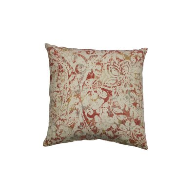 Vancleve Cotton Throw Pillow Color: Coral