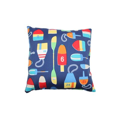Shipwreck Outdoor Throw Pillow Color: Navy