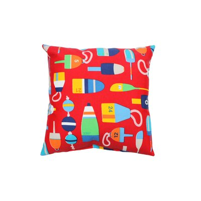 Shipwreck Outdoor Throw Pillow Color: Red
