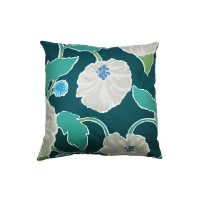 Jungle Bloom Cotton Throw Pillow