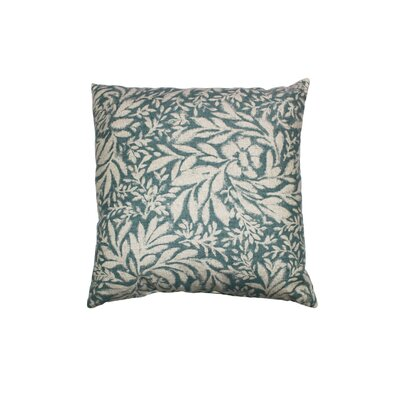 Indiki Blooms 100% Cotton Throw Pillow Color: Aegean