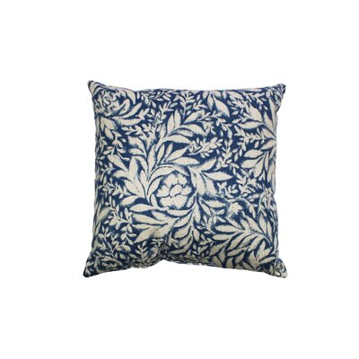 Indiki Blooms 100% Cotton Throw Pillow Color: Indigio