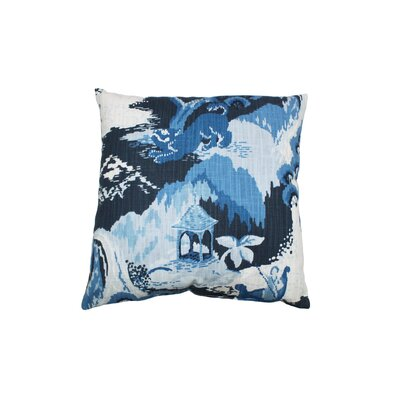 Road to Canton Cotton Throw Pillow Color: Ocean