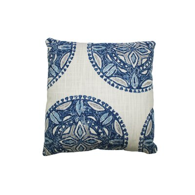 Amapondo Cotton Throw Pillow Color: Indigio