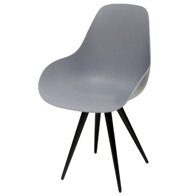 Angel Armchair Finish: Dark Grey, Base Finish: Chrome