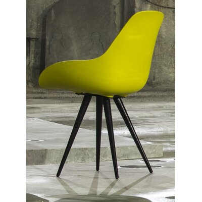Angel Armchair Finish: Mustard, Base Finish: Chrome