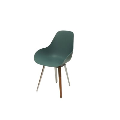 Slice Dimple Side Chair Color: Ocean Blue, Finish: Walnut