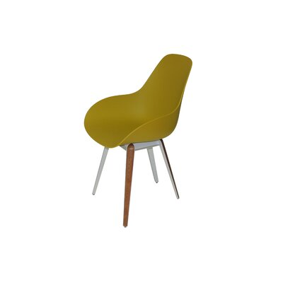Slice Armchair Finish: Mustard, Finish: Walnut