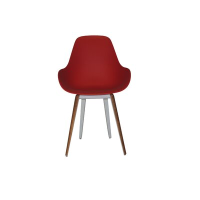 Slice Armchair Upholstery: Red, Finish: Walnut