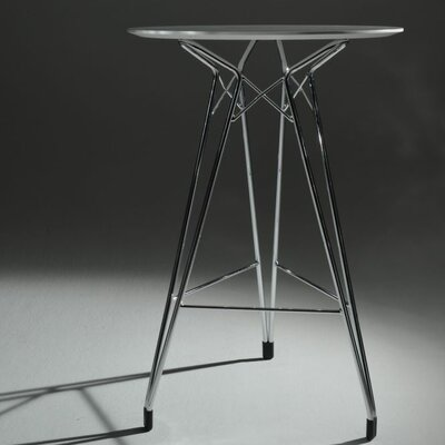 Diamond Pub Table Color: Black