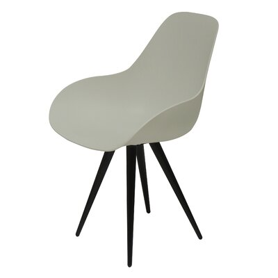 Angel Armchair Finish: Cream, Base Finish: Black