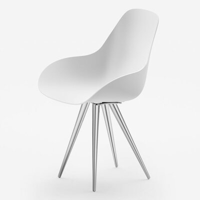 Angel Contract Dimple Arm Chair Color: White