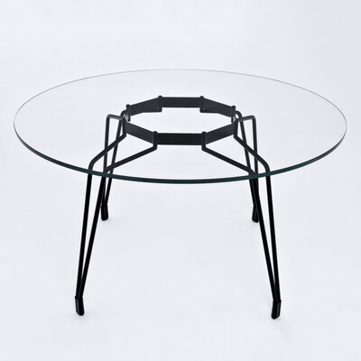 Diamond Dining Table Base Finish: Black, Top Finish: White