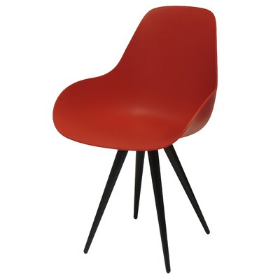 Angel Armchair Finish: Red, Base Finish: Chrome