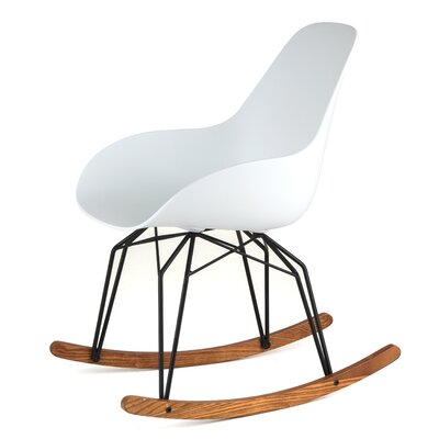 ... for Mademoiselle Fabric Side Chair Color White Pattern Finish Black
