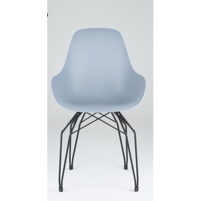 Diamond Armchair Base Finish: Black, Finish: Light Grey