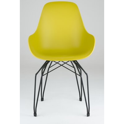 Diamond Armchair Base Finish: Black, Finish: Mustard