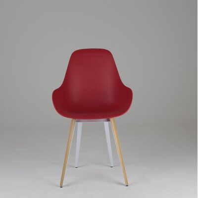 Slice Dimple Chair Finish: Natural, Color: Red