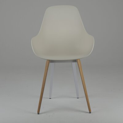 Slice Dimple Side Chair Finish: Natural, Color: Cream