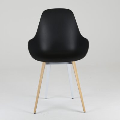 Slice Armchair Upholstery: Black, Finish: Natural